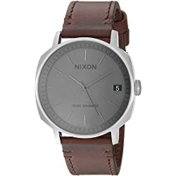 Nixon Men's 'Regent II' Swiss Quartz Stainless Steel and Leather Casual Watch, Color:Brown (Model: A9732342-00)
