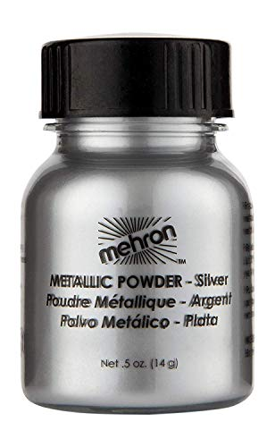 Silver Face Makeup (Mehron Makeup Metallic Powder (.5 ounce))