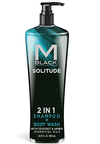 M.Black Signature Series 2 In 1 Shampoo + Body Wash With Coconut & Amber Essential Oils - Scent: Solitude -  MB8035D