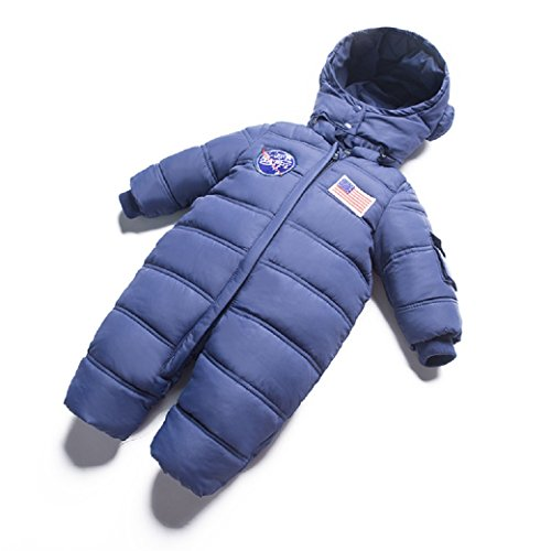 Arctic Explorer Extra Warm Weatherproof Baby Snow Suit With Detachable Mittens and Booties (12-18 M, Navy) by Arctic Explorer