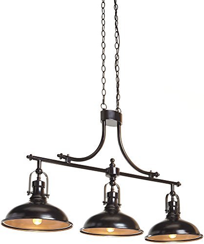 Ashley Furniture Signature Design – Joella Urban Chic Pendant Light – Bronze Finish
