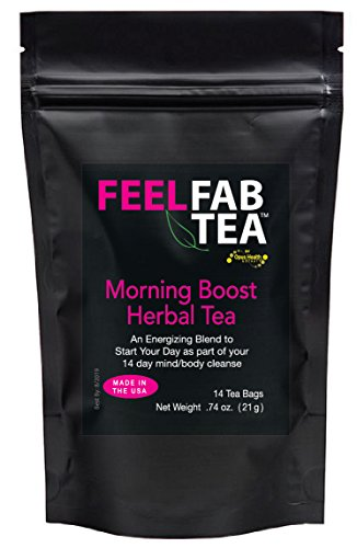 Feel Fab Morning Boost Cleansing Tea by Opus Health & Beauty – Natural Detox Tea to Increase Energy, Cleanse Body, Reduce Stress, Start The Day Right! For Sale