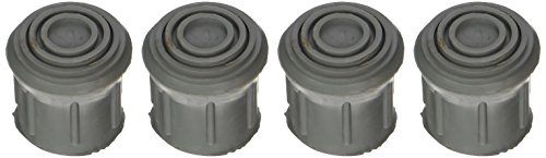 DMI Rubber Walker and Cane Replacement Tips for Stability, 1 Inch, Gray, 4 ()