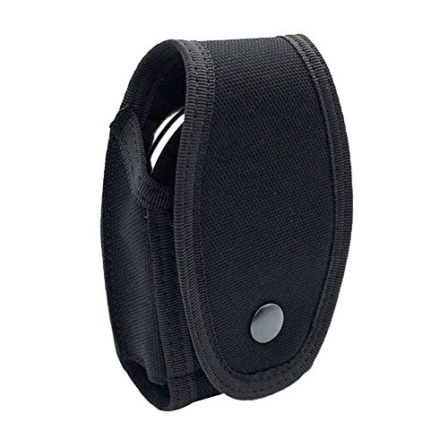 Universal Military Standard Handcuff Holder with Secure Snap and Belt Loop,Quick Release Handcuff Cases Handcuff Holders- Professional Handcuff Pouch Sheath Security Enhanced Molded Tactical Holster ()