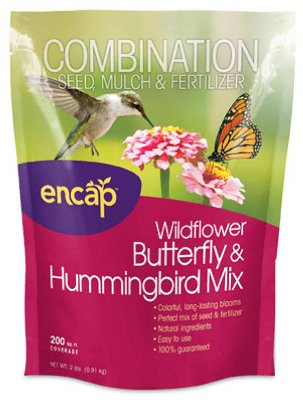 Butterfly Wildflower Seed Mix (Encap 10810-6 Wildflowers Butterfly and Hummingbird Mix, 2 Pounds, 200-Square Feet Cover)