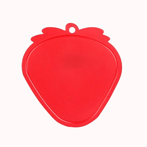Hongxin Plastic Chopping Board Non-Slip Frosted Kitchen Cutting Board Vegetable Meat Tools Kitchen Accessories Chopping Board Apple Pattern Anti-Bacterial Cutting Board (Red strawberry) -