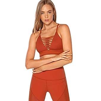 Lorna Jane Women's Pump Sports Bra, Rust, XS