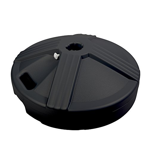 US Weight Durable 50 Pound Umbrella Base Designed to be Used with a Patio Table (Black) (Deck Costco Umbrella)