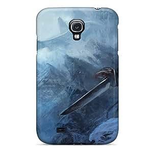 Fashionable Style Case Cover Skin For Galaxy S4- Dragons Artwork The Elder Scrolls V Skyrim