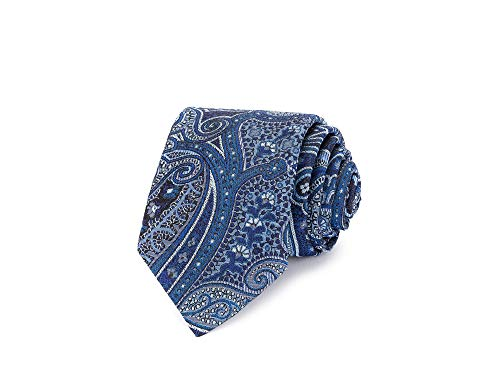 Ted Baker Men's Dickinson Paisley Classic Tie, Blue, OS