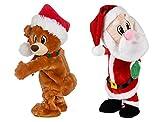 Walmart Twerking Dancing Plush Animated Christmas Santa & Bear Combo