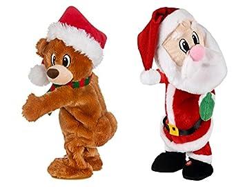 Christmas Dancing Cartoon.Walmart Twerking Dancing Plush Animated Christmas Santa Bear Combo