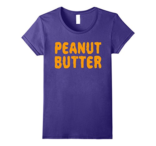 Matching Mother Son Halloween Costumes (Womens Peanut Butter T-Shirt Matching Halloween Costume Medium Purple)