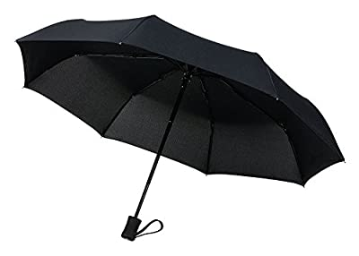 "Sadun Windproof Travel Umbrella Golf Umbrellas, ""Unbreakable"" Lightweight 8 Ribs Automatic Windproof Canopy Compact Auto Open Close with Light Reflective"