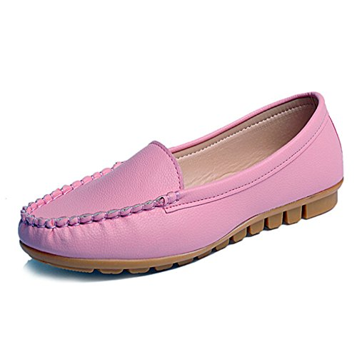 Slip Shoes Angelliu Spring Casual Comfy Watermelon on Leather Ballets Autumn Flats Work Red Women Soft nFYr8WaY