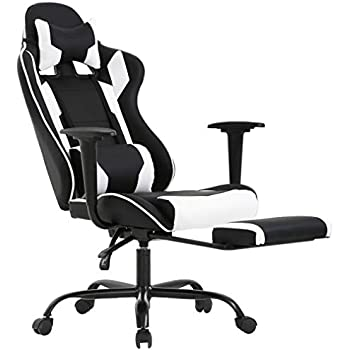 Incredible Racing Gaming Chair High Back Pu Leather Home Office Chair Desk Computer Chair Ergonomic Executive Swivel Rolling Chair With Arms Lumbar Support For Frankydiablos Diy Chair Ideas Frankydiabloscom