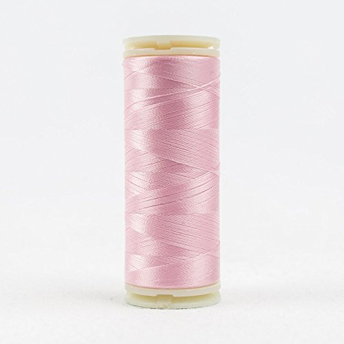 WonderFil InvisaFil Specialty Thread, 2-Ply Cottonized Soft Polyester, Silk-Like Thread for Fine Sewing, 100wt - Perfectly Pink, 400m