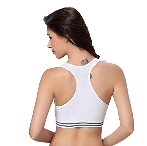 E-SHINE CO - Sujetador deportivo - para mujer White-1