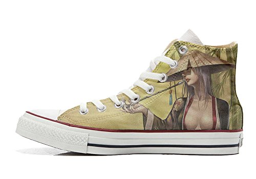 mys Converse All Star Customized - zapatos personalizados (Producto Artesano) Geisha style