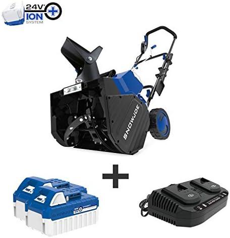 Snow Joe 24V-X2-SB18 18-Inch 48-Volt 4.0-Ah Cordless Snow Blower, Kit w 2 x 24-Volt 4.0-Ah Batteries and Rapid Charger