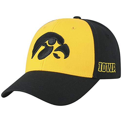 - Top of the World NCAA-Premium Two Tone-One-Fit-Memory Fit-Hat Cap-Iowa Hawkeyes