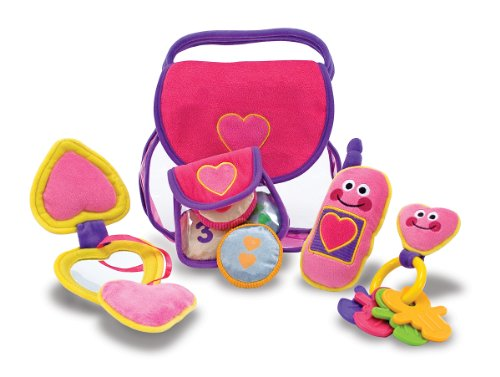 Melissa & Doug Pretty Purse Fill and Spill Soft Play Set Toddler Toy (Play Purse)