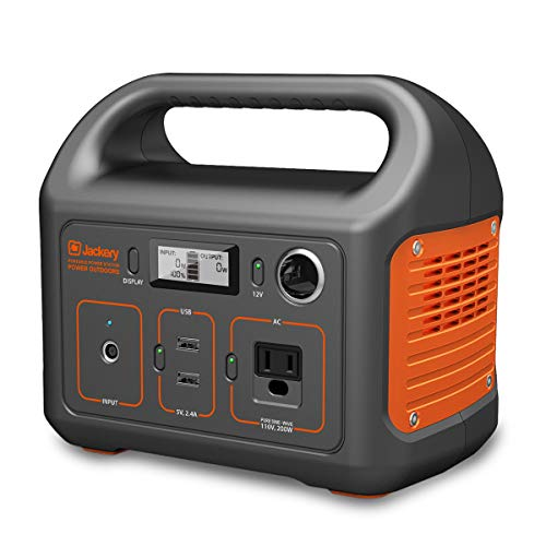 - Jackery Portable Power Station Explorer 240, 240Wh Emergency Backup Lithium Battery, 110V/200W Pure Sinewave AC Outlet, Solar Generator for Outdoors Camping Travel Fishing Hunting