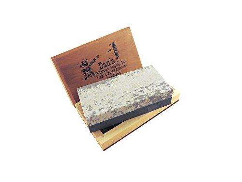 Combination Arkansas Stone (Genuine Arkansas Combination Soft (Medium) and Black Surgical (Ultra Fine) Knife Sharpening Bench Stone Whetstone 4