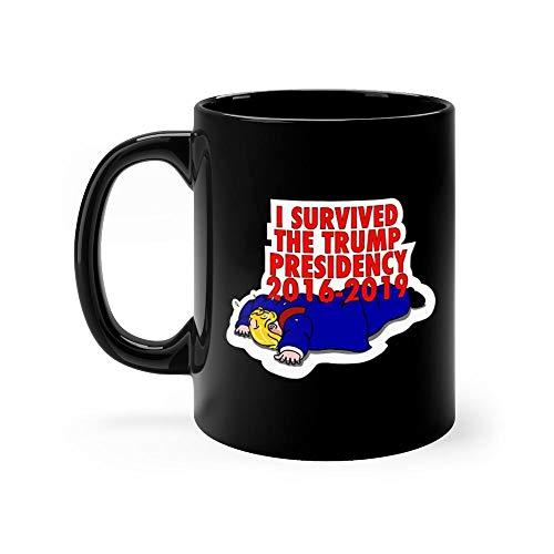 I SURVIVED Ghost Version Mug Coffee Mug 11oz Gift Tea Cups 11oz Ceramic Funny Gift Mug Novelty Father's Day Gifts for Mom Dad Birthday Gifts Mug for Men Women