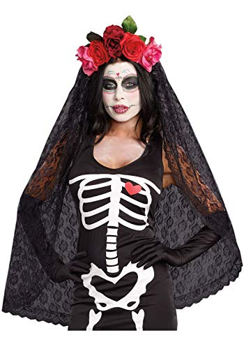 (Dreamgirl Women's Dia de los Muertos Sugar Skull Costume)