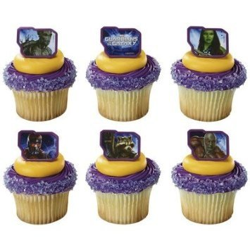 Guardians of the Galaxy Unite Marvel cupcake Rings - 24 pcs (Guardians Of The Galaxy Decorations)