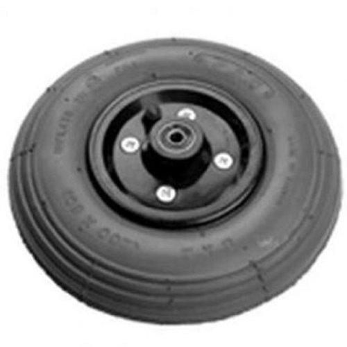 """Pair of (2) 200 X 50 8"""" X 2"""" 2pc Rim Gray air Filled Pneumatic Caster Tires for Powerchair Wheelchair 5/16 Inch Bearing, 2-1/2 Inch Hub"""