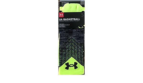 Amazon.com : Under Armour Youth UA Basketball Performance Drive Crew Black Volt - Youth Large 9-12.5 : Sports & Outdoors