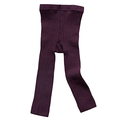 Winsummer Infant Toddler Girls Solid Knit Footless Leggings Little Girls Cotton Stretch Tights Warm Pants Leggings from Winsummer