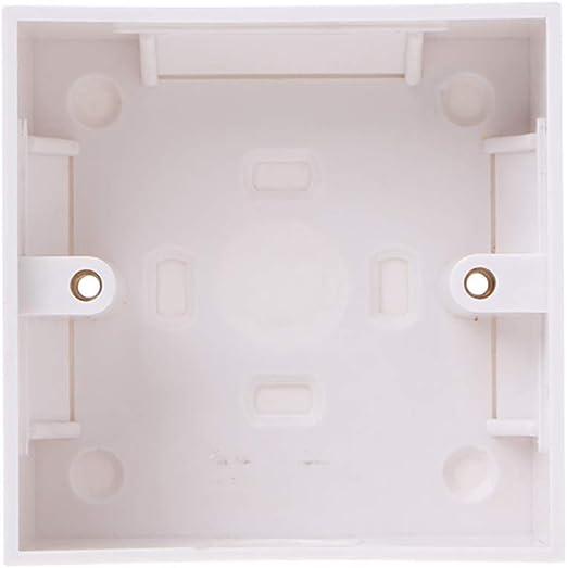 Caja de conexiones para placa de pared de 86 x 86 mm, resistente al agua: Amazon.es: Hogar