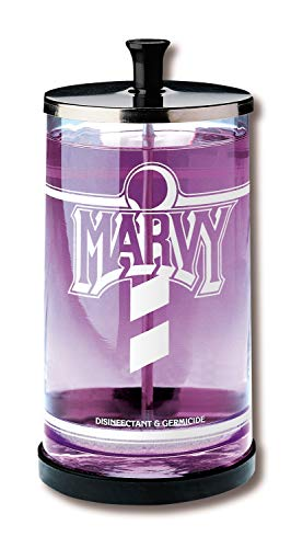 Marvy Sanitizing Disinfectant - William Marvy No.6 Glass Manicurist Disinfectant Jar