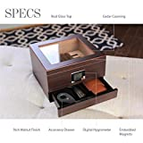 Glass Top Handcrafted Cedar Humidor with Front