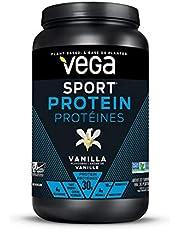 Vega Sport Premium Protein, Vanilla (20 Servings, 828g) - Plant-Based Vegan Protein Powder, BCAAs, Amino Acid, Tart Cherry, Non Whey, Gluten Free, Non GMO