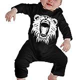 Love Taste Big Sean Lion King Head Roar Unisex Baby Boy Girl Organic Cotton Bodysuits Long Sleeve Onesies, Black