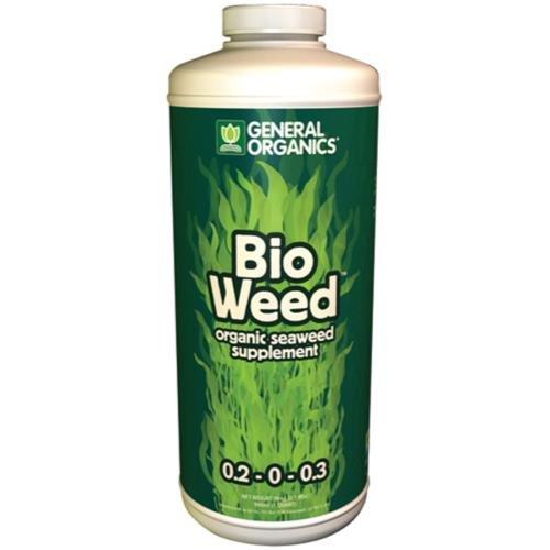 GH BioWeed 0.2-0 - 0.3 GH General Organics BioWeed Quart (12/Cs) -  General Hydroponics, 726832