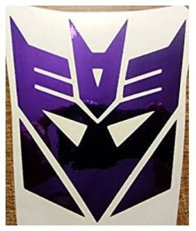 Transformers Chrome Purple Decepticon Logo Vinyl Decal for sale  Delivered anywhere in USA