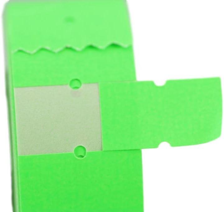 (6 rollos) verde 21 x 12 mm Pegatina de papel de colores Precio Pistola Precio Precio Etiquetas MX-5500
