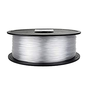 Tonglingusl 3d printer filament 1.75 pla petg carbon fiber wood abs pc pom pa metal asa hips ceramics nylon (color : silver, size : free)