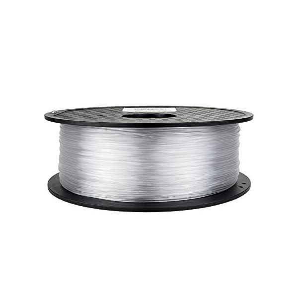Tonglingusl 3d printer filament 1.75 pla petg carbon fiber wood abs pc pom pa metal asa hips ceramics nylon (color : silver, size : free)