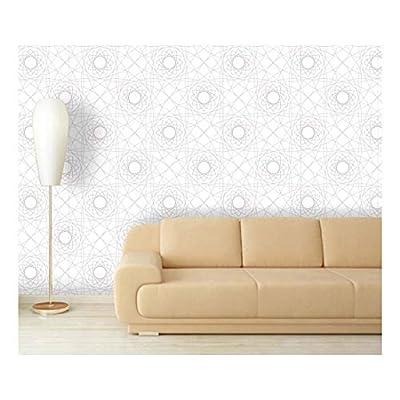 Large Wall Mural - Geometric Seamless Pattern | Self-Adhesive Vinyl Wallpaper/Removable Modern Decorating Wall Art - 66