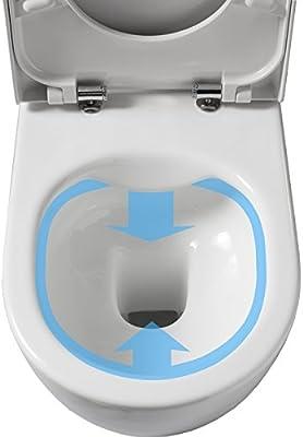 Planetebain Yunix Rimless - Pack de WC suspendido con Placa de Control eléctrico, Color Blanco: Amazon.es: Hogar