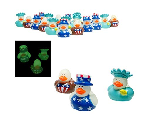 Fun Express 4th of July Patriotic Rubber Duck Ducky Party Favors Toy (4 - Party Ducky Favors Duck