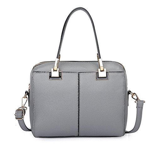 Nouveau De À Gris Dame Facile Cartable Gray À Bandoulière Et Mode Sac La Simple Sac GWQGZ Main À 40waddqI