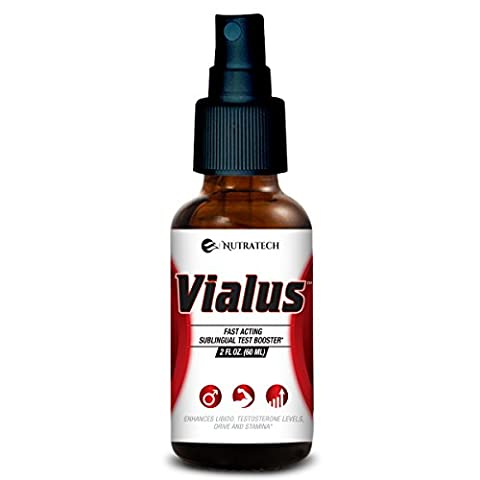 Vialus –Sublingual Fast Acting Male Testosterone Booster to Improve Size, Energy, and Stamina with a Fast Acting Formula, Safe Alternative to - Erectile Dysfunction Cialis