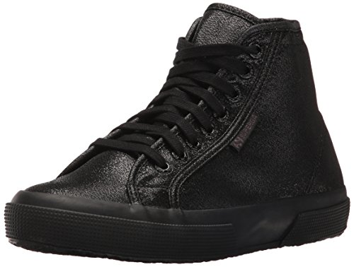 Superga Womens 2795 Lame Fashion Sneaker, Total Black, 39 EU/8 M US Deal (Large Image)